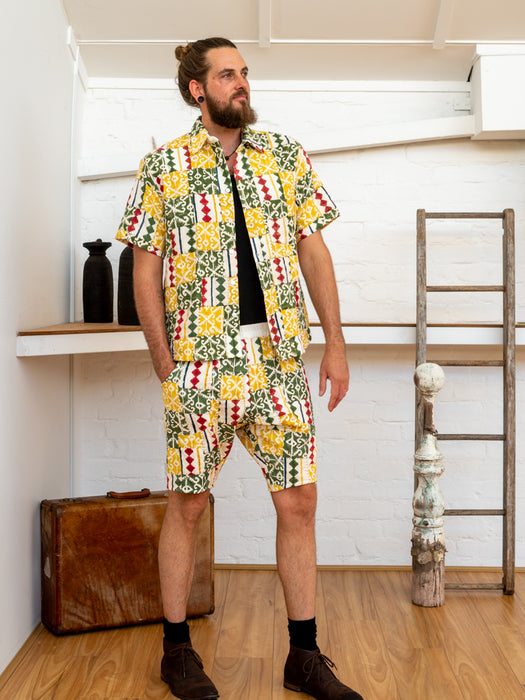 Men Shorts - Diamond Print Patchwork-Men-The ANJELMS Project