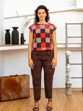 Load image into Gallery viewer, Shell Top - Red Print Patchwork-Women-The ANJELMS Project