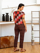 Cargar imagen en el visor de la galería, Shell Top - Red Print Patchwork-Women-The ANJELMS Project