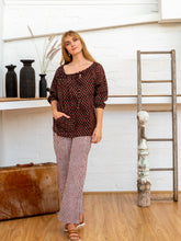 Load image into Gallery viewer, Long Pocket Pants - Red Pinstripe-Women-The ANJELMS Project