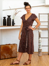 Load image into Gallery viewer, Tie Wrap Dress - Jaipur Floral-Women-The ANJELMS Project