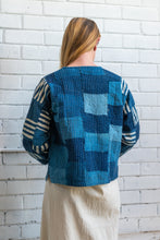 Load image into Gallery viewer, Indigo Patchwork Jacket - Stripes
