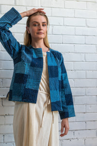 Indigo Patchwork Jacket
