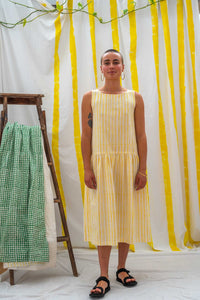 Dropwaist Dress - Yellow Stripe