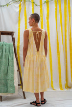 Load image into Gallery viewer, Dropwaist Dress - Yellow Stripe