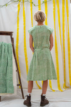 Load image into Gallery viewer, Cap Sleeve Dress - Green Waffle Print