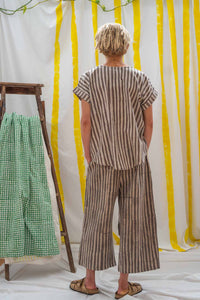 ¾ Tie Pants - Kashish Stripes