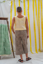 Load image into Gallery viewer, Tank Tie Top - Yellow Stripe Print