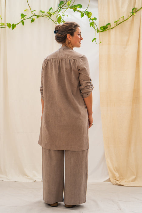 Cecile Button Shirt - Stone