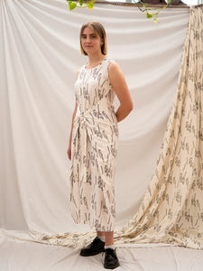 Wrap Dress - People Gathering Print