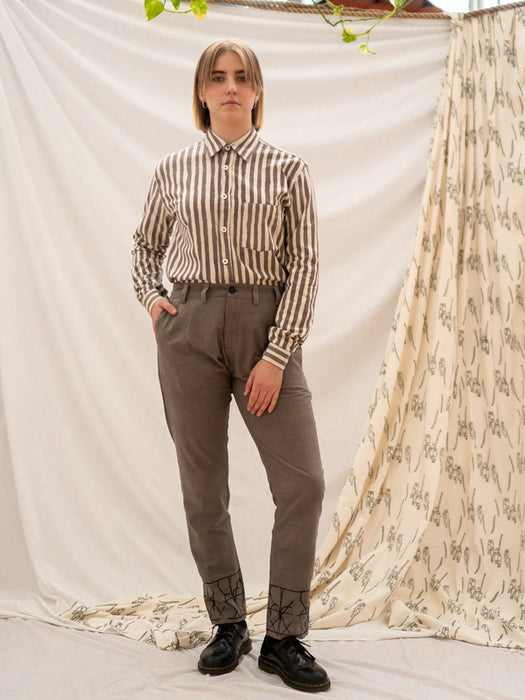 Tailored Pants - Fence Print