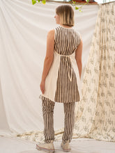 Load image into Gallery viewer, Tie Apron Shift Dress - Kashish Stripe