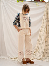 Load image into Gallery viewer, Wide Leg Pants - Fence Print