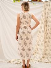 Load image into Gallery viewer, Wrap Dress - People Gathering Print