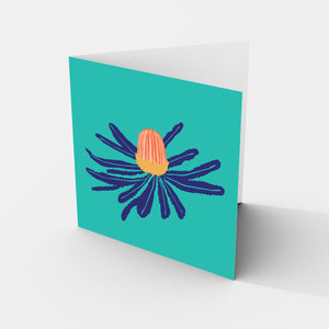 Banksia Australian Flower - Greeting Card