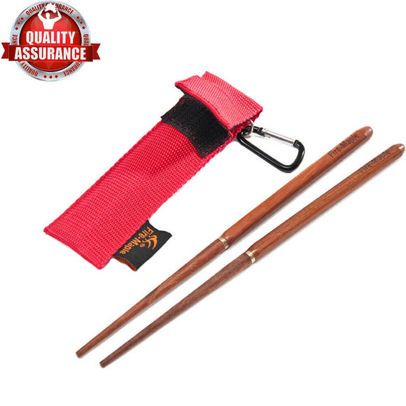Foldable Travel Reusable Japanese Bamboo Chopsticks Collapsible Set With Pouch