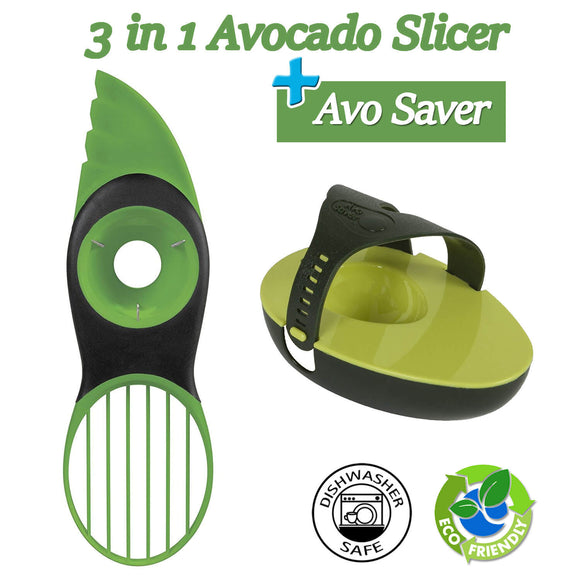 Great Grips 3-in-1 Avocado Slicer + Avocado Saver Holder and Storage Keeper Tool