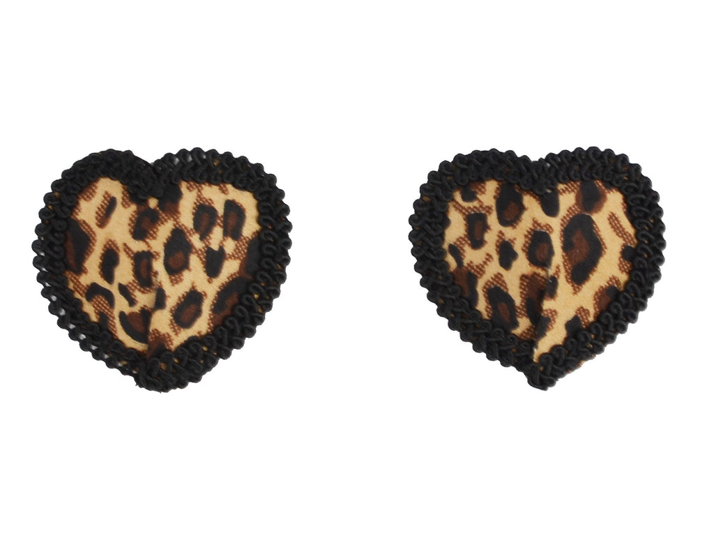 Toynary SM05 Leopard Heart-Shape Nipple Covers