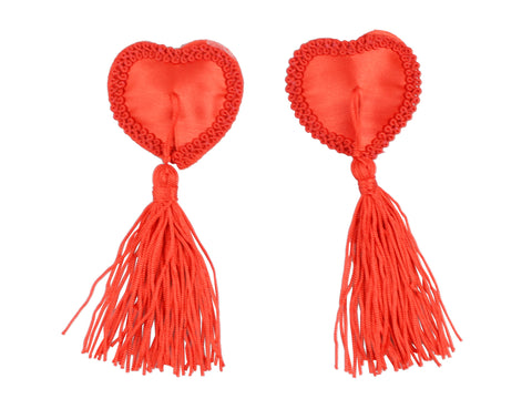 Toynary SM08 Red Heart-Shaped Nipple Covers