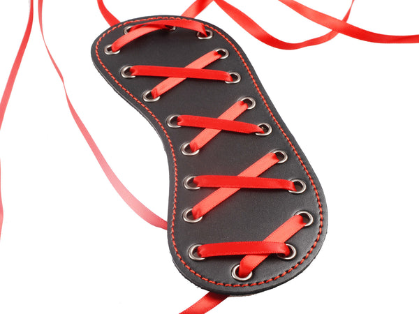 Toynary SM13 Red Ribbon Leather Blindfold