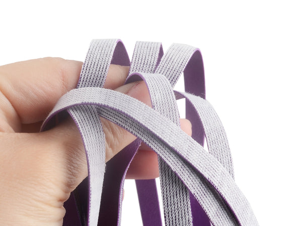 Toynary SM22 Leather Flogger Whip - Purple