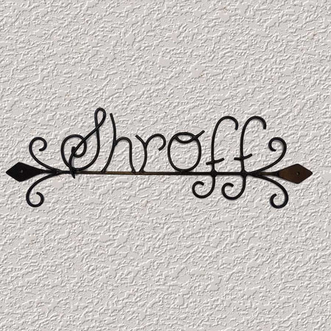 Shroff (Wrought Iron Nameplate)