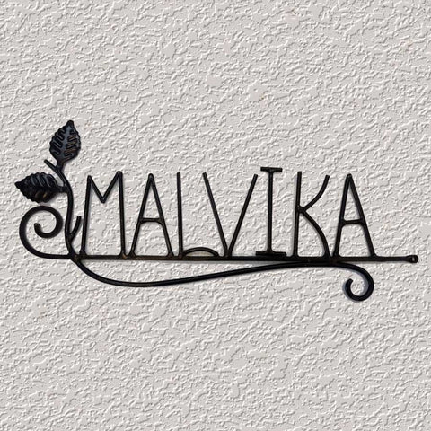 Malvika (Wrought Iron Nameplate)