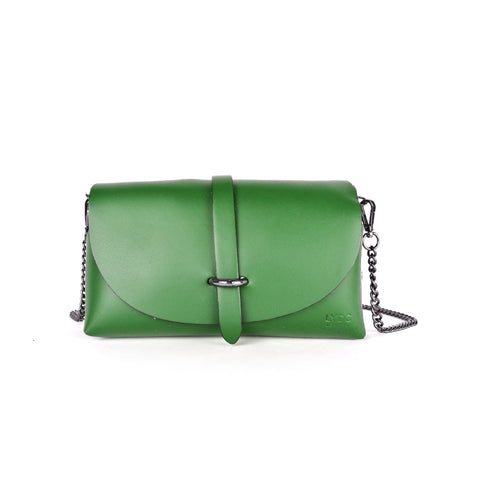 GREEN LYDC REAL LEATHER BAG