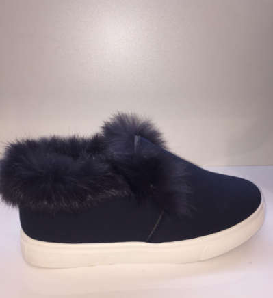 Fur Lined Navy Daps