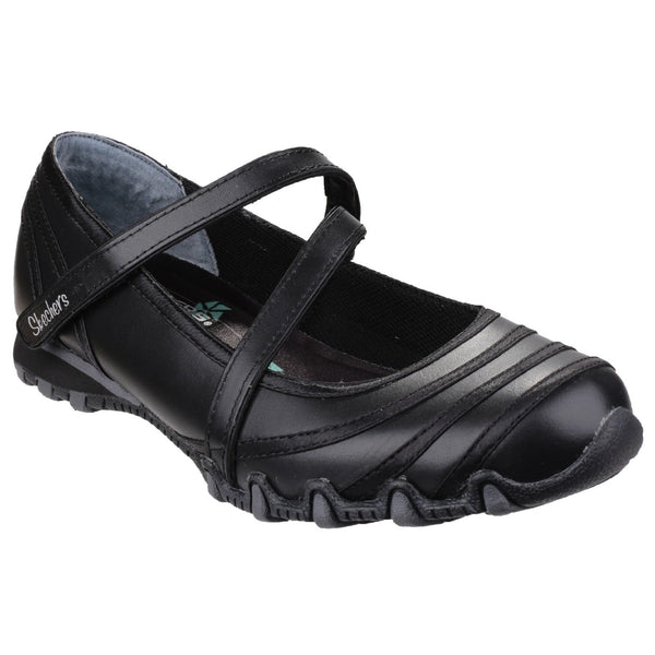Skechers Black Skechers Bikers Satin Shine