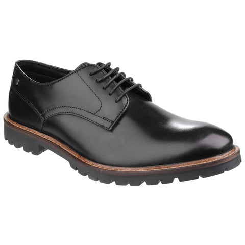 Base London Black Barrage Lace up Derby Shoe