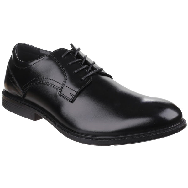 Hush Puppies Black Durban Mainstreet Dual Fit Lace up Shoe