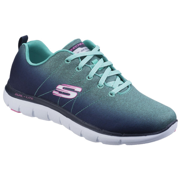 Skechers Navy/Aqua Flex Appeal 2.0 - Bright Side