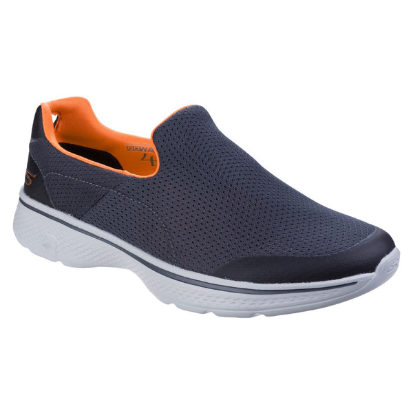 Skechers Charcoal/Orange Go Walk 4 - Incredible