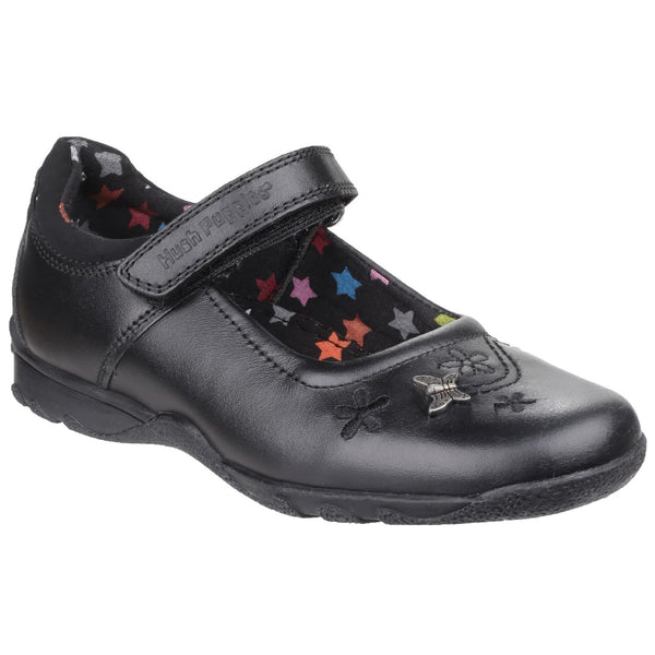 Hush Puppies Black Clare Junior Girls Shoe