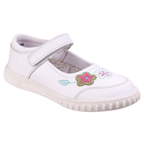 Hush Puppies WHITE Lottie Girls Junior Casual Shoe