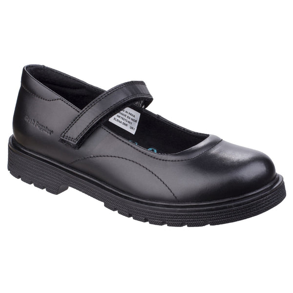 Hush Puppies BLACK Elena Girls Back to School Shoe