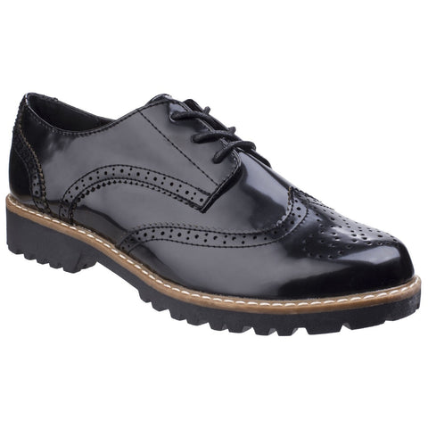 Divaz Black Divaz Rita Ladies Casual Brogue Shoe