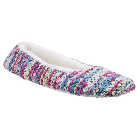 Divaz Pink Morzine Knitted Slipper