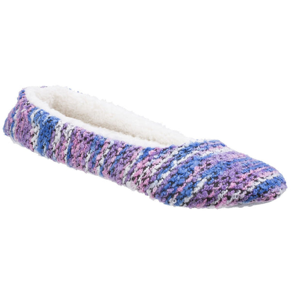 Divaz Purple Morzine Knitted Slipper
