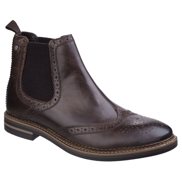 Base London Cocoa Burnished Riley Burnished Chelsea Boot