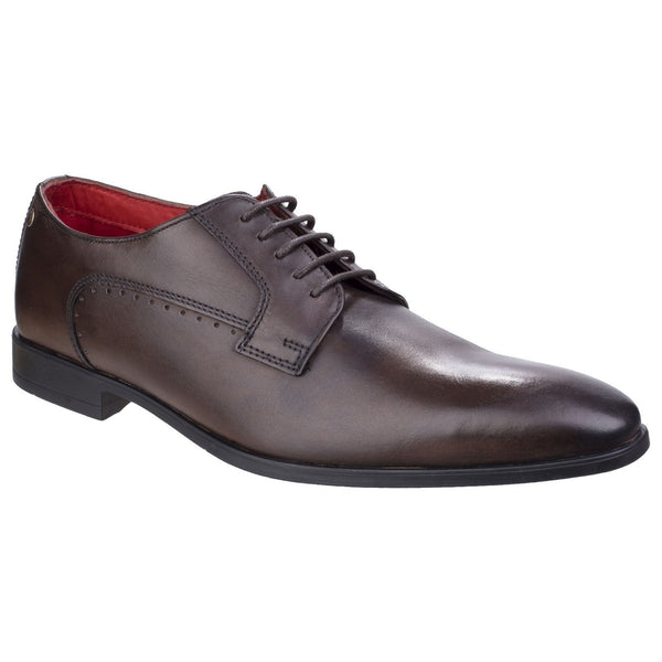 Base London Washed Brown Penny Washed Smart Shoe