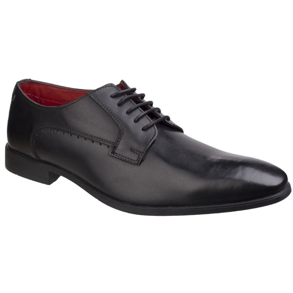 Base London Waxy Black Penny Washed Smart Shoe
