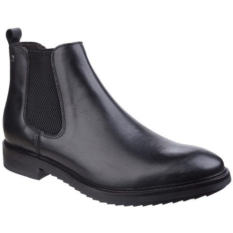 3ec09931520 Base London Waxy Black Bosworth Waxy Chelsea Boot | Bibi Shoes