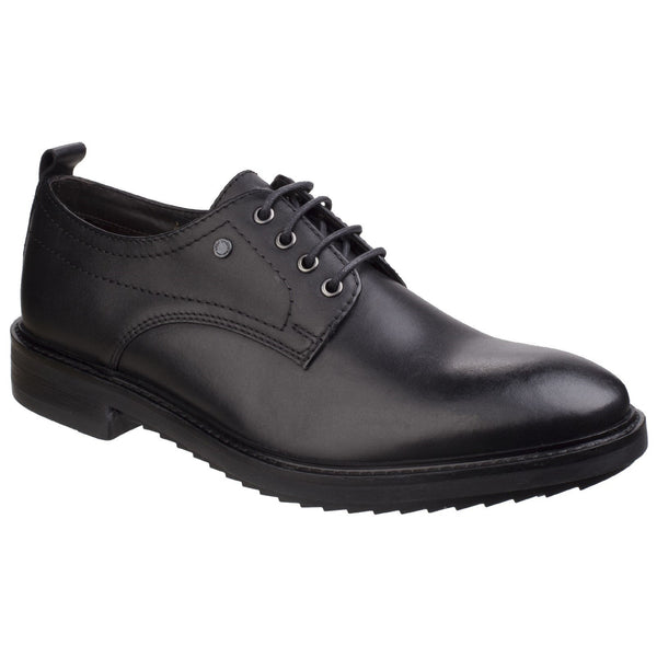 Base London Waxy Black Elba Waxy Derby Shoe