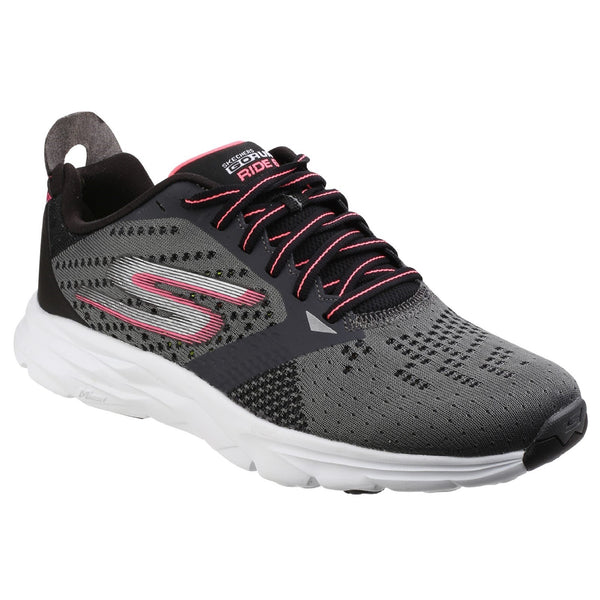 Skechers Charcoal/Hot Pink Go Run Ride 6