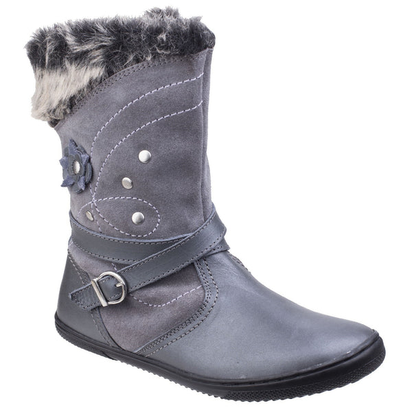 Hush Puppies Grey Pippa Girls Pull on Boot