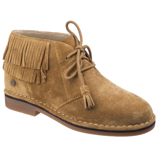 Hush Puppies Camel Cala Catelyn Womens Lace up Ankle Boot