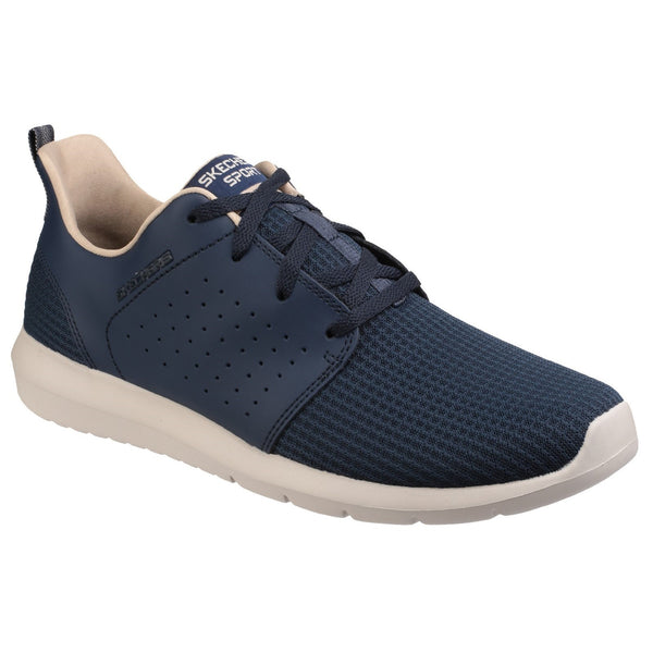 Skechers Navy Foreflex Lace-Up Trainer