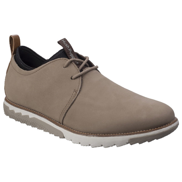 Hush Puppies Taupe Nubuck Performance Expert Mens Lace-up Shoe